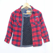Timberland Cotton Red Navy Plaid Boys Jacket - Size 8
