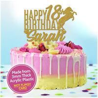 Horse Cake Topper PERSONALISED Acrylic Horse Birthday Cake Decorations Girls Her