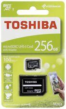 256GB Micro sd sdxc Speicherkarte für Samsung Galaxy S7, S8, S9 Full HD 100 MB/s