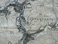 LENNESTADT, Messtischblatt, topographische Karte 4814, 1:25.000, Druck 1976