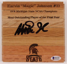 * Magic Johnson * Signed 6x6 Floorboard Autographed Becket CERT* MICHIGAN STATE