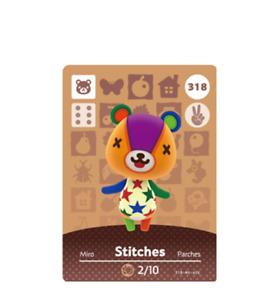 Animal Crossing MINI Amiibo Card Villager Stitches FREE POST