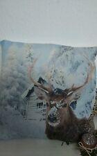 Almohadas con relleno/cojín / Estilo Rústico 45x45cm ciervo NUEVO