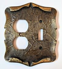 Vtg Amerock Carriage House Outlet Receptacle/ Switch Plate Brass, Folded Design