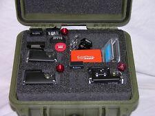 OD Green Pelican 1300 Case fits 3 GoPro Hero6 6 5 4 3+ 3 2 Black Ed +nameplate