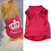 Hundebekleidung Hundeshirt T Shirt Dog Clothes Princess Chihuahua Yorkie Rosa S
