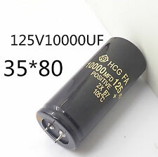 Electrolytic Capacitor 125V 10000uF 35x80mm can replace 120V 100V Audio #J18 LX