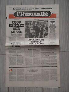 Journaux Anciens L'humanité du 30 JUILLET 1981