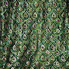 """Peacock Scale 100% Polyester 2 Way Stretch Black Mesh Fabric 60""""w Sale by yard"""