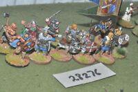 25mm dark ages / viking - warriors 12 figures - inf (28276)