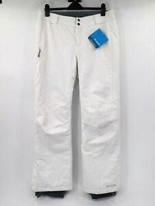 NWT Columbia women's L Bugaboo Omni-heat ski pants white snowboarding winter