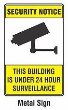 Security Notice CCTV 24 Hour Surveillance Camera METAL Sign 200mmx300mm