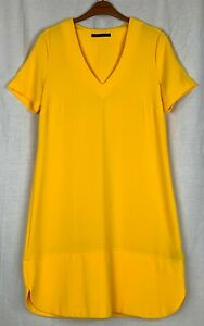 M&S COLLECTION Womens Yellow Dress Size 12