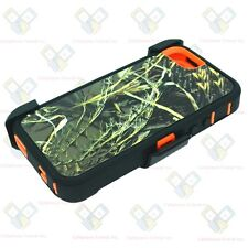 NEW Camo Orange Grass For  iPhone SE Defender Case w/Belt Clip&Screen Protector