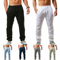 Men Casual Cotton Linen Baggy Harem Pants Beach Yoga Loose Trousers Summer Pants