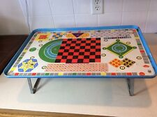 Vintage Pressman Toy Corp NY USA No 3385-298 Metal Childs Lap Tray Play Table