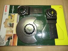 BOSCH STARLOCK 3 PCE SAW BLADE SET FOR PMF MULTI TOOLS 2607017323
