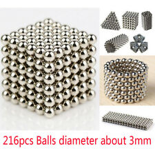 Funny 3mm 216pcs Magnetic Balls Magic Beads 3D Puzzle Magnetic Sphere Ball Toy