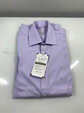 Haggar Men's Premium Performance Classic Fit Dress Shirt 15-15 1/2 X34/35 Purple