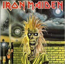 IRON MAIDEN 1980 FULLY SIGNED Vinyl LP, Clive Burr Paul Di'Anno Murray AUTOGRAPH