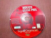 Sega Dreamcast Disc Only Tested Monaco Grand Prix Ships Fast