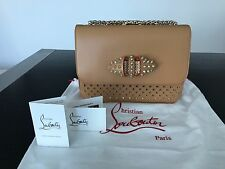 Christian Louboutin Beige Sweet Charity Small Shoulder Cross Body Bag NWT