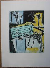 CANE Louis Gravure signée EA piscine Atelier Lacourière 1989 support surface