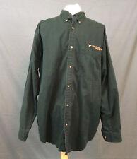 University of Texas Black Button Down Shirt Size XL 100% Cotton