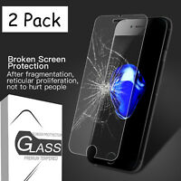 For iPhone XS Max XR XS 8 7 6s 6 & Plus Premium Tempered Glass Screen Protector