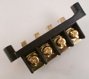CH2 Car Audio Terminal Block 4 Way R/Angled PCB Mount GOLD PLATED OM0449F