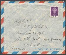 30 CT.EN FACE OP LP.COUVERT LEIDEN-BIAK NW.GUINEA 13.VIII.1952,AZ.VIOLET  ZE730