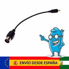 Cable Antena RF mini Coaxial Adaptador TV TDT DVB-T hembra a macho MCX
