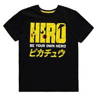 Official POKEMON Pikachu Hero T SHIRT Gaming Gift