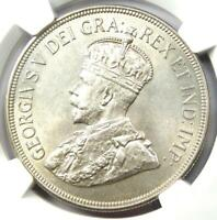 1928 Cyprus George V 45 Piastres Coin (45P) - Certified NGC MS62 (UNC BU)