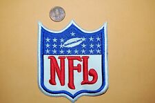 """NFL FOOTBALL 4"""" White Outline Large Patch 1970-2007 Primary Logo Shield Football"""