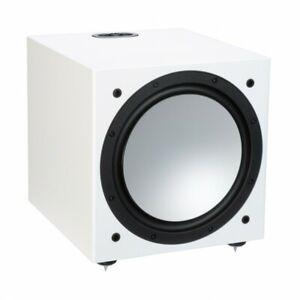 SUBWOOFER ATTIVO MONITOR AUDIO SILVER W-12 6G SATIN WHITE CASSE SPEAKERS