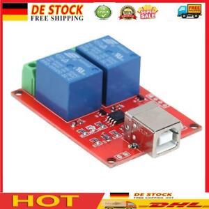 5V 2 Kanal Treiber-freie USB Smart Control-Schalter-Relais-Modul für PC Sma