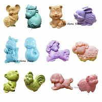 3D DIY animal Candle Soap Mould Chocolate Candy Sugar Fondant Cake Silicone Mold