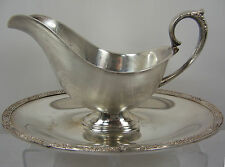 Rogers & Bros PRIMROSE PATTERN Silver Plate Gravy Sauce Boat Dish Bowl #2313