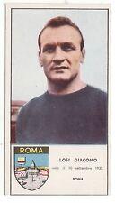 #CALCIO: LOSI GIACOMO- Roma-     FIGURINA CARTONATA anni '60