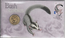 Australia 2011 PNC Bush Babies Sugar Glider Postal Numismatic Cover 1v $1 Coin