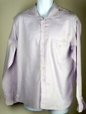 Men's EMPORIO ARMANI Authentic Lavender Button Down Shirt Large 16/41 Italian