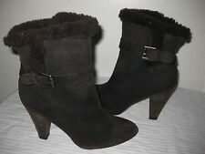 Joie Suede Leather  Brown Espresso Ankle Boots Size EUR 36, US 5.5 / 6