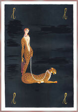 The Lady and the Painter  by Erte  Paper Print Repro