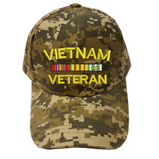 DIGITAL CAMO CAMOUFLAGE VIETNAM VETERAN RIBBON LOGO Military Cap Hat