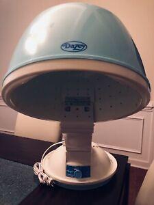 Lady Dazey Aqua BlueW Box Desk Top Portable Hooded Hair Dryer HD61 Works & Clean