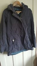 Mantaray Blue Grey Ladies Hooded Parka Coat UK Size 10