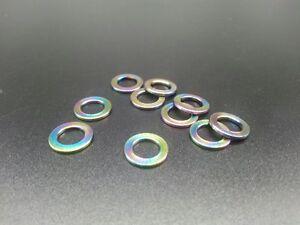 10Pcs Rainbow Titanium Ti M6 Flat Washer Grade 5 Ti-6Al-4V Fit DIN912 Bolt