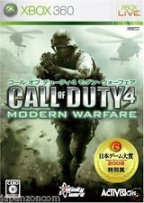 Used Xbox 360 Call of Duty 4 MICROSOFT JAPAN JP JAPANESE JAPONAIS IMPORT