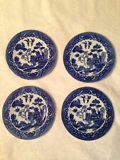 4 Pc Set Antique Y.S. Blue Willow Bread And Butter Plates Made In Japan